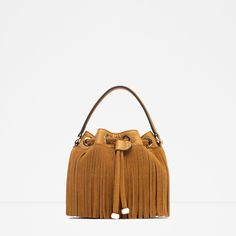 Zara FRINGED MESSENGER STYLE BUCKET BAG Found on my new favorite app Dote Shopping #DoteApp #Shopping