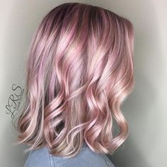 Perfect pink! lrshairdesign used #KenraColor 9VM + Red and Violet Booster 1:2 on and off. #MetallicObsession #PinkHair