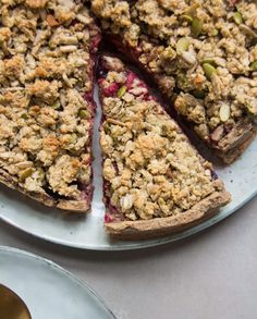Apple and Berry Crumble Tart (Nut Free) - DeliciouslyElla