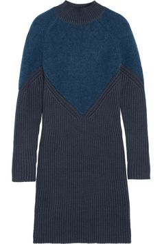 Carven Knitted sweater dress - Blue