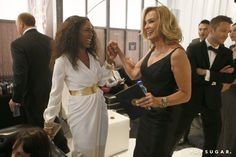 Pin for Later: Relive the Best Moments From the 2014 Emmys  Angela Bassett and Jessica Lange exchanged smiles.