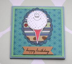 Golf Ball Sports Fan Happy Birthday Gift by CraftyMushroomCards, £1.75