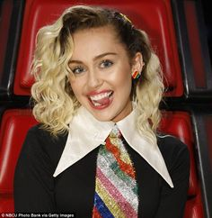 New chapter: The shoulder-grazing look that Miley Cyrus, who turns 24 today, is currently sporting on The Voice is the longest her hair has been in years