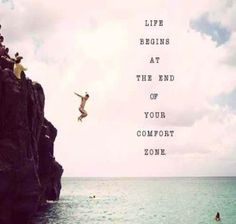 Life begins at the end of your comfort zone. #travel #quotes