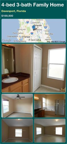 4-bed 3-bath Family Home in Davenport, Florida ►$169,900 #PropertyForSale #RealEstate #Florida http://florida-magic.com/properties/14599-family-home-for-sale-in-davenport-florida-with-4-bedroom-3-bathroom