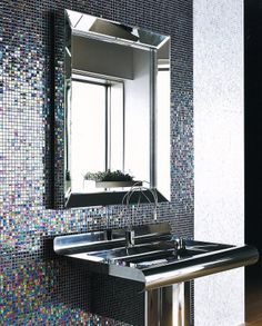 #bathroom #bright #tiles #mosaico #brillante #baño