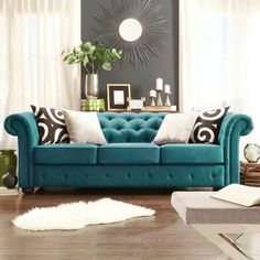Upscale Furniture, Living Room Grey, Living Rooms, Chesterfield Sofa, Big Houses, Modern Decor, Sweet Home, Lounge, Couch