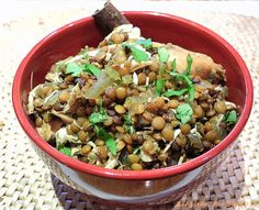 Recipe for Slow Cooker Indian Spiced Lentils and Chicken | Eat Little, Eat Big
