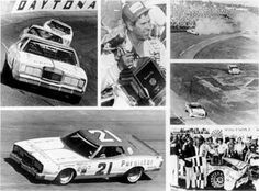 1976 - David Pearson won the '76 Daytona 500. This collage shows action during the race and Pearson in Victory Lane with the race trophy.
