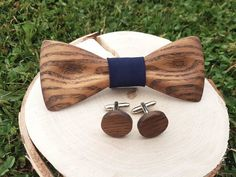 Wooden bow tie- wooden bow tie and cufflinks- bow tie for weddings- wedding accessories- gift for men- handcrafted bow tie- wooden cufflinks Other Accessories, Wedding Accessories, Bowtie And Suspenders, Wooden Bow Tie, Handmade Wooden, Natural Wood, Cufflinks, Bows, Etsy
