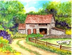 """Daily Paintworks - """"On the Farm"""" - Original Fine Art for Sale - © Patricia Ann Rizzo"""
