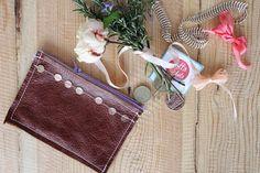DIY - simple leather purse