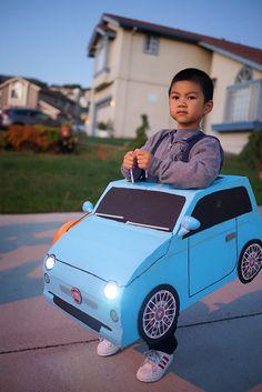 DIY Halloween Fiat 500 Car Costume