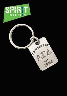 Alpha Gamma Delta Property of Keychain-On sale this week! (1/20-1/26/13)