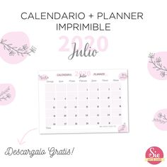 Calendario + Planner imprimible free Happiness, Words, Crafts, Free, Happy, Quote Of The Day, Printable, Affirmations, Calendar