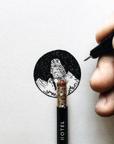 Pencil Top Drawings by Christian Watson - Snowy Owl