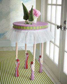 cute for a ballet themed baby/kids room: Ballet Dancer Table by Patience Brewster at Horchow.