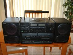 Sony Stero Boom Box Player in Stuffbymitchs Garage Sale in Las vegas , NV for $50.00. brThis Stero consists of 3 pieces and slide together to make 1 piece.brIt has CD, Cassette and AM/FM RadiobrMust be local picked up in Las Vegas, no shipping