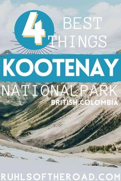 Visit Kootenay National Park in British Columbia Canada on a Canadian National Parks road trip. Canada National Parks are full of adventure! Travel from Vancouver British Columbia & explore Kootenay National Park with this Kootenay guide of the best things to do! Hike Kootenay National Park for amazing views of the Canadian Rocky Mountains, Canada lakes and wildlife. Take a Canada trip to one of the best places in Canada! Plus where to find free National Park camping in Kootenay National… Travel Pics, Travel Info, Travel Guides, Montreal Travel, Vancouver Travel, Canada National Parks, Canada Trip, Canadian Travel, Outdoor Adventures