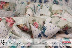 """In A-Z FABRIC TERMS IT'S """"Q"""" FOR TODAY  Beautiful range QUILTED fabric... #quilting #polyester #padding #stitching #layers #comfortable #fashionable #stylish #evergreen #soft #textile #apparels #home #furnishing #sheets #bags #purses #pouches #Potholders.#runner"""