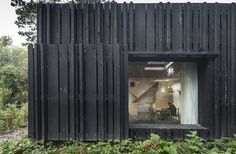Fragments of architecture — Black House / Marchi Architectes House Cladding, Timber Cladding, Exterior Cladding, Timber Slats, Timber Boards, Wood Architecture, Architecture Details, Architecture Journal, Wooden Facade