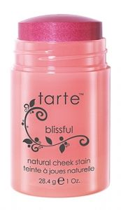 Tarte Cosmetics cheek stains - these are great products.  Dab your fingers on the color stick, or dab your cheeks directly with it, and blend in.  You get a great, dewy, look.  And of course, it's cheap at twice the price, because look how long it'll last you.  Thank you, Tarte!
