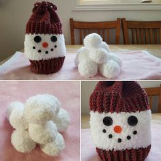 Indoor snowball fight - crochet toy