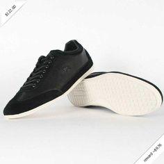 Lacoste Mens Shoes Misano 11 SRM Black LTH 7-24SRM2267024, Black, 11 D(M) US