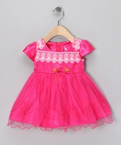 50% OFF ~ $14.99 ~ Fuchsia Lace Rosette Dress ~Infant ~ by Lele for Kids ~ What a shower gift!!