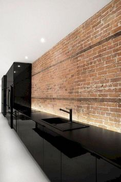 57 Amazing Contemporary Kitchen Cabinets Remodel Ideas – CUISINE – White N Black Kitchen Cabinets Contemporary Kitchen Cabinets, Contemporary Kitchen Design, Modern House Design, Modern Kitchens, Black Kitchens, Kitchen Modern, Kitchen Black, Contemporary Style, Kitchen Cabinet Remodel
