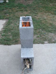 5 Block Rocket Stove - JRs Survival&Bushcraft