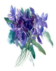 Buy Wild Violet Flowers, Watercolor by Suren Nersisyan on Artfinder. Discover thousands of other original paintings, prints, sculptures and photography from independent artists. Watercolor Flowers, Watercolour, Paper Tags, Lovers Art, Buy Art, Original Paintings, Sculptures, Artists, This Or That Questions