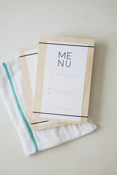 DIY wood + rubber band menus with free printable menu | almost makes perfect