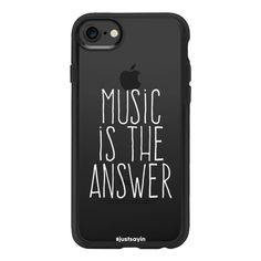Music is the answer - iPhone 7 Case And Cover (250 DKK) ❤ liked on Polyvore featuring accessories, tech accessories, phone cases, phone, cases, phonecase, iphone case, iphone cases, apple iphone case and iphone cover case
