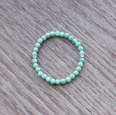 Genuine Amazonite Bracelet  Healing Bracelet  Harmony by BBTresors