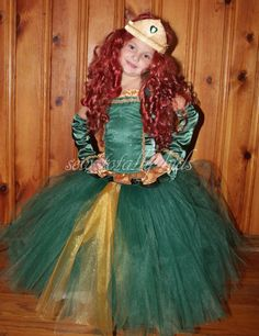 Brave Inspired Merida Cosutme Dress up Costume by sewtotallykids