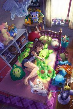 grafika pokemon and anime