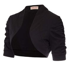 Women's Half Sleeve Shrug Open Front Cotton Cardigan Bolero Jacket
