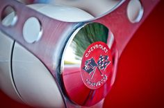 Images of Steering Wheels by Jill Reger - Steering Wheel Images -   1957 Chevrolet Corvette Steering Wheel