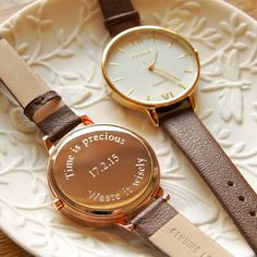 ladies' watch with leather strap by highland angel | notonthehighstreet.com