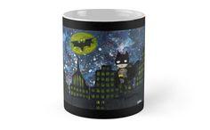 Batman mug with galaxy background