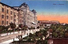 Pula, 1917. Austro Hungarian, Pula, Old Pictures, Louvre, Old Things, Street View, Mansions, History, House Styles