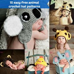 15 easy free animal crochet hat free patterns