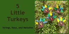 Finger Play Fun Day:  5 Little Turkeys
