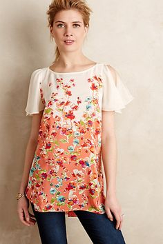 Ludovica Silk Tunic #anthropologie