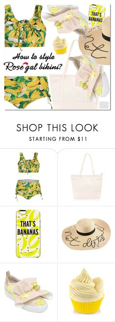 """""""How to style Rosegal bikini?"""" by ansev ❤ liked on Polyvore featuring Kate Spade and MSGM"""