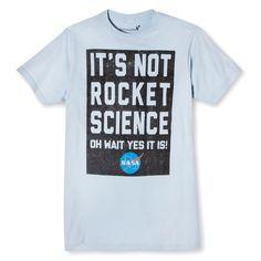 Men's Nasa It's Not Rocket Science T-Shirt Light Blue XXLarge, Size: Xxl