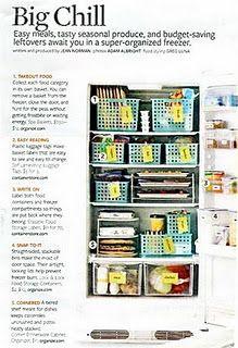 Upright freezer organization...Am I a totally freak b/c this makes me happy??