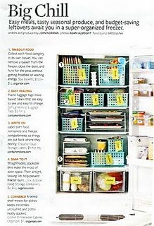 Upright freezer organization...Am I a totally freak b/c this makes me happy??
