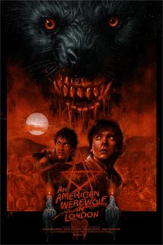 """""""That way is Proctor, and over here is the moors."""" An American Werewolf in London fan poster should stick to the road Horror Icons, Horror Movie Posters, Movie Poster Art, New Poster, Lost Poster, American Werewolf In London, Werewolf Art, Horror Artwork, Classic Horror Movies"""